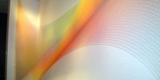 Rainbow Made Of Colourful Thread by Gabriel Dawe