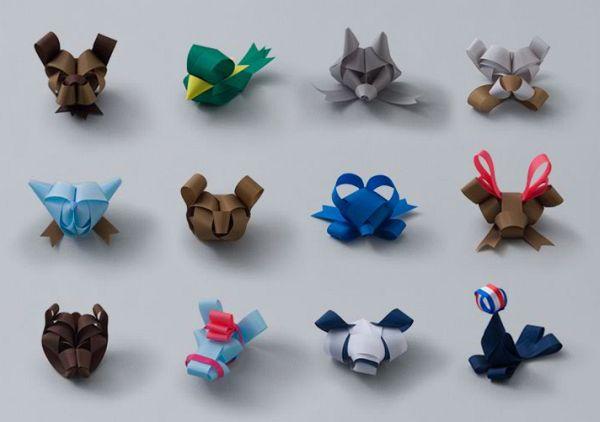 Amazingly Folded Ribbon Animals