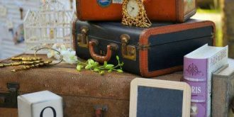 Vintage Suitcases For Decoration