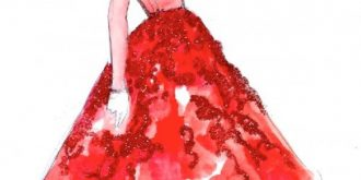 Glittering Fashion Illustrations by Katie Rodgers