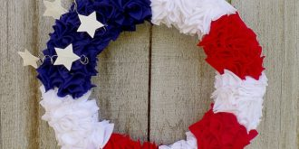Make A 4th Of July Wreath