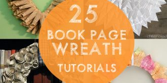 25 Book Page Wreath Tutorials