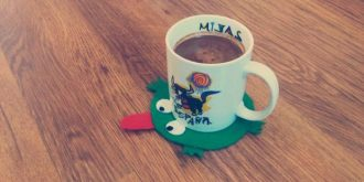 How to Make Felt Frog Coasters