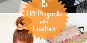 15 DIY Projects with Leather