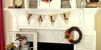Lovely Fall Mantel Decor Ideas