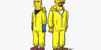 Simpsonized Breaking Bad Characters by ADN
