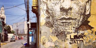 Scratching the Surface Street Art by Vhils