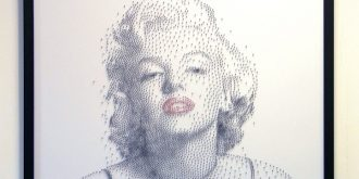 Awesome Portraits Made From Nails on Canvas