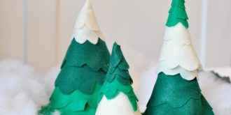 Crafts Time: 30 Mini Christmas Tree Tutorials