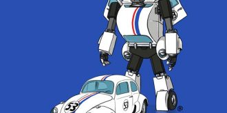 Iconic Movie Cars as Transformers